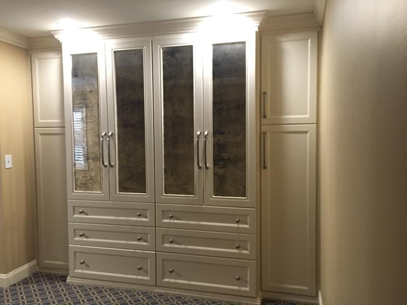 Some Beautiful Closets With Antique Mirrrored Doors!